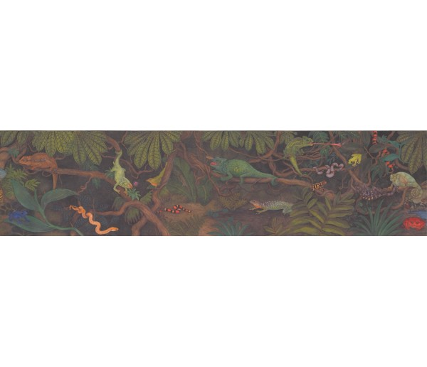 Jungle Wallpaper Borders: Reptiles Wallpaper Border 3060 CA
