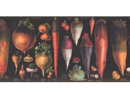 Prepasted Wallpaper Borders - Vegetables Wall Paper Border 3049 CB