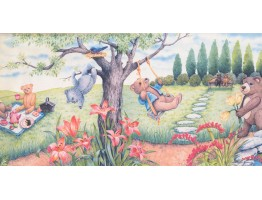 12 in x 15 ft Prepasted Wallpaper Borders - Garden Wall Paper Border 3068 CB