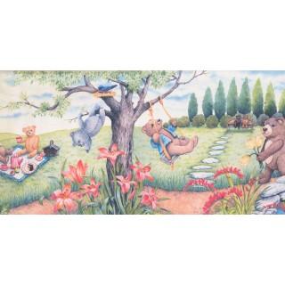 12 in x 15 ft Prepasted Wallpaper Borders - Garden Wall Paper Border 3068 CB