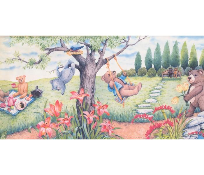 Garden Wallpaper Borders: Garden Wallpaper Border 3068 CB