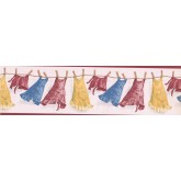 Clearance: Laundry Wallpaper Border CGB28123
