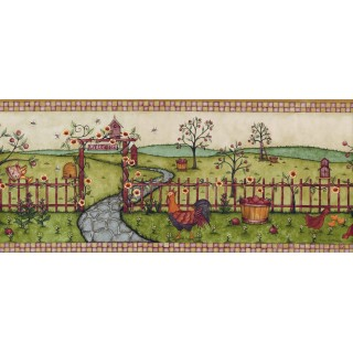8 1/4 in x 15 ft Prepasted Wallpaper Borders - Betterley Wall Paper Border CL45000B