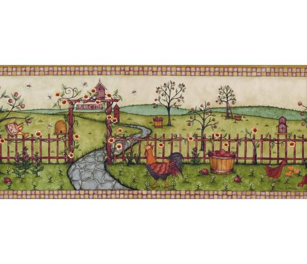 Garden Wallpaper Borders: Betterley Wallpaper Border CL45000B