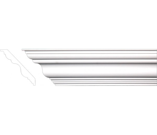 Crown Molding - Plastic Crown Moluding Manufactured with a Dense Architectural Polyurethane Compound. CM-1001 Crown Molding