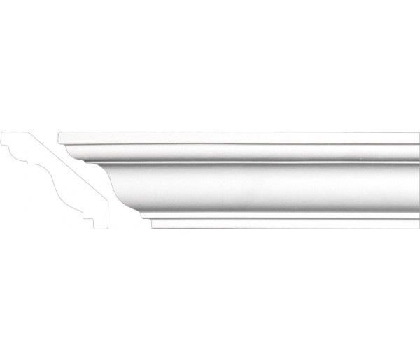 Crown Molding - Plastic Crown Moluding Manufactured with a Dense Architectural Polyurethane Compound. CM-1014 Crown Molding