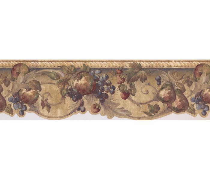 Garden Wallpaper Borders: Fruits Wallpaper Border CR061142