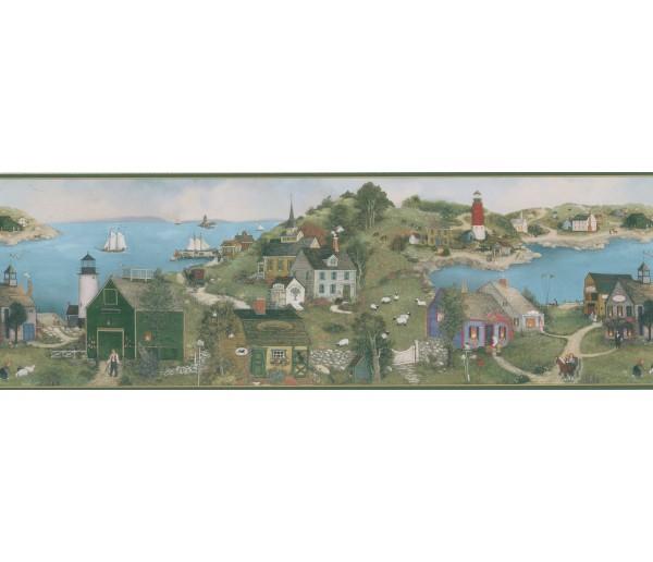 Lighthouse Wallpaper Borders: Linda Nelson Stocks Lighthouse Wallpaper Border CL45063B