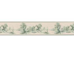 Prepasted Wallpaper Borders - Vintage Wall Paper Border T742452B
