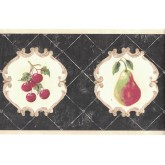 Garden Wallpaper Borders: Fruits Wallpaper Border CY3203B