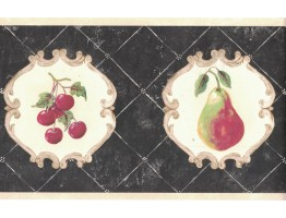 Prepasted Wallpaper Borders - Fruits Wall Paper Border CY3203B
