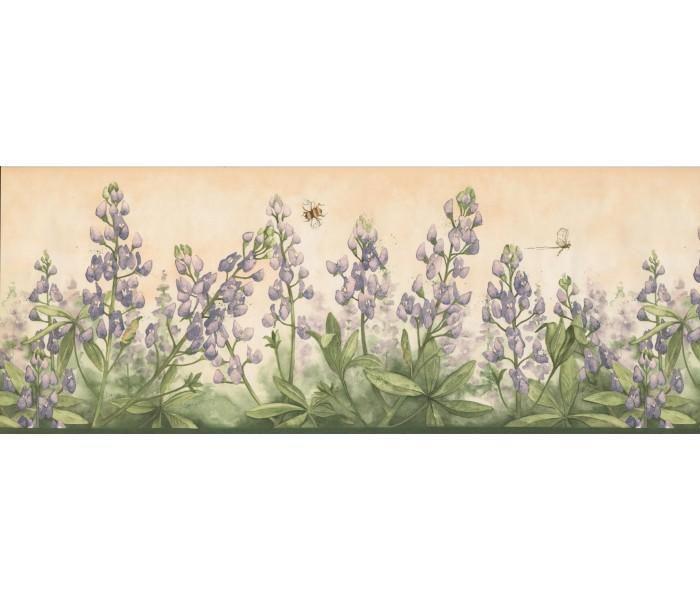 Floral Wallpaper Borders: Floral Wallpaper Border 3804 DB