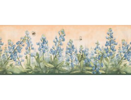 Prepasted Wallpaper Borders - Floral Wall Paper Border 3805 DB