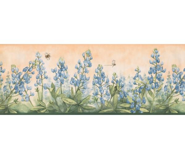 Prepasted Wallpaper Borders - Floral Wall Paper Border 3805 DB