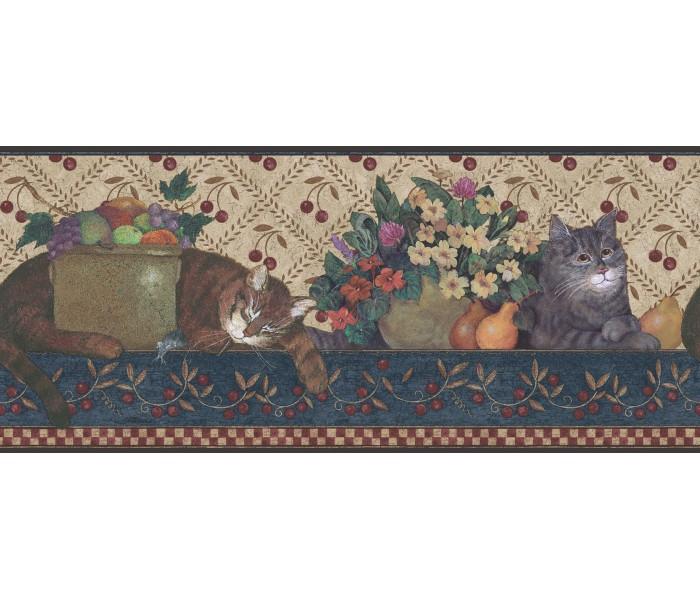 Cats Wallpaper Borders: Ellen Stouffer Wallpaper Border DC5001B