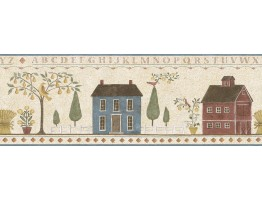 Prepasted Wallpaper Borders - Ellen Stouffer Country Wall Paper Border DC5023B