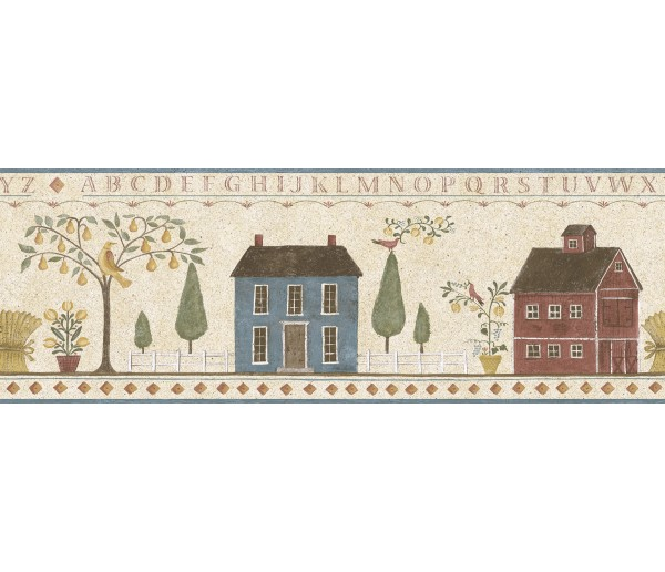 Country Wallpaper Borders: Ellen Stouffer Country Wallpaper Border DC5023B