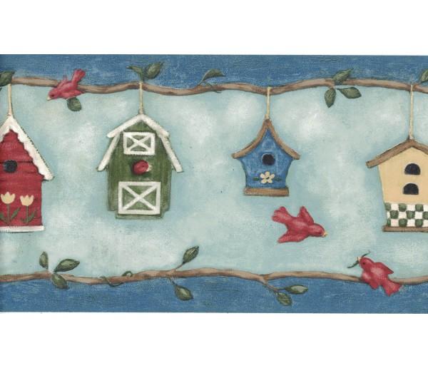 New Arrivals Birds Cage Wallpaper Border DC5046B