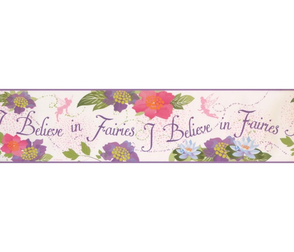 Faith and Angels Wallpaper Borders: I Believe in Fairies Wallpaper Border 5900 DK