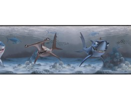 Prepasted Wallpaper Borders - Sea World Wall Paper Border 7692 DS