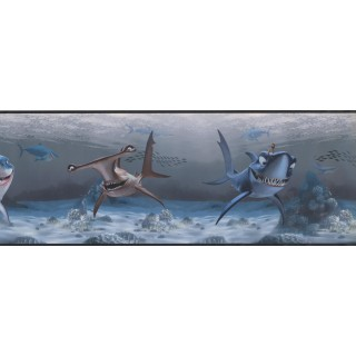 9 in x 15 ft Prepasted Wallpaper Borders - Sea World Wall Paper Border 7692 DS