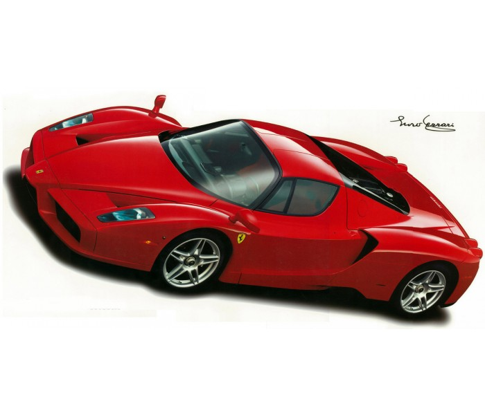 Wall Decals: Enzo Ferrari 2002 Wall Decal