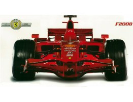Formula 1 Ferrari F2008 Wall Decal