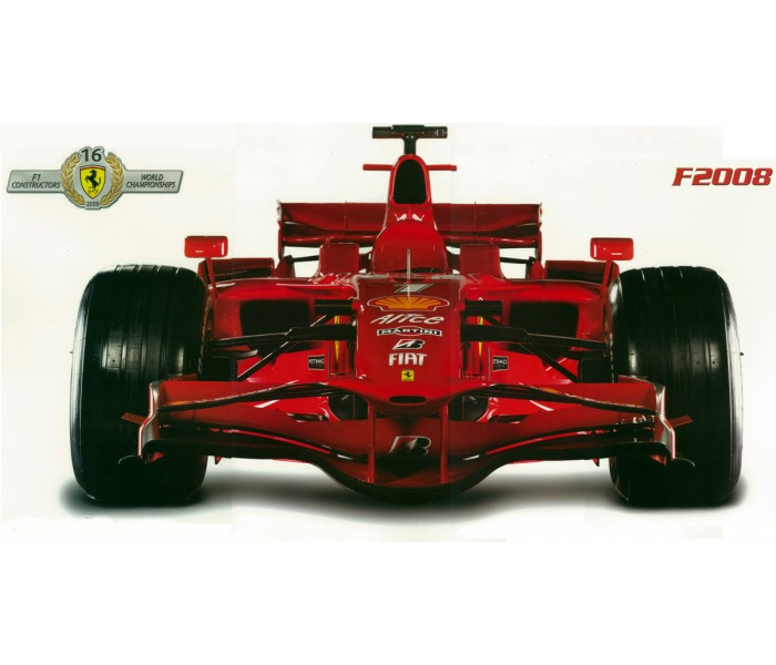 Wall Decals: Formula 1 Ferrari F2008 Wall Decal