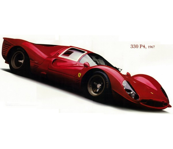 Wall Decals Ferrari 330 P4 Wall Decal York Wallcoverings