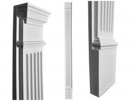 Flat Column 6-3/4 Inch Wide