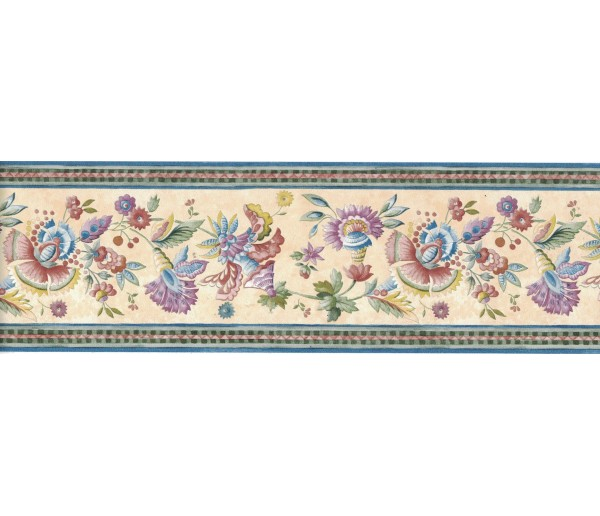Floral Wallpaper Borders: Flower Wallpaper Border FCM47022B