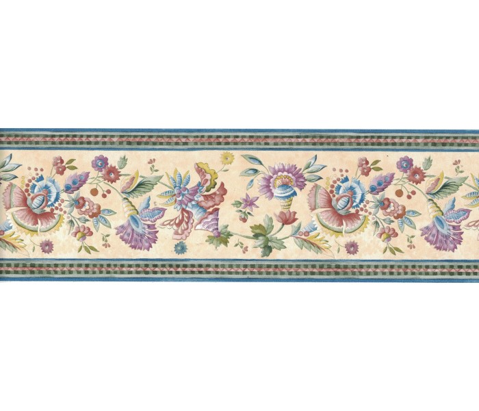 Floral Wallpaper Borders: Flower Wallpaper Border FCM47022B