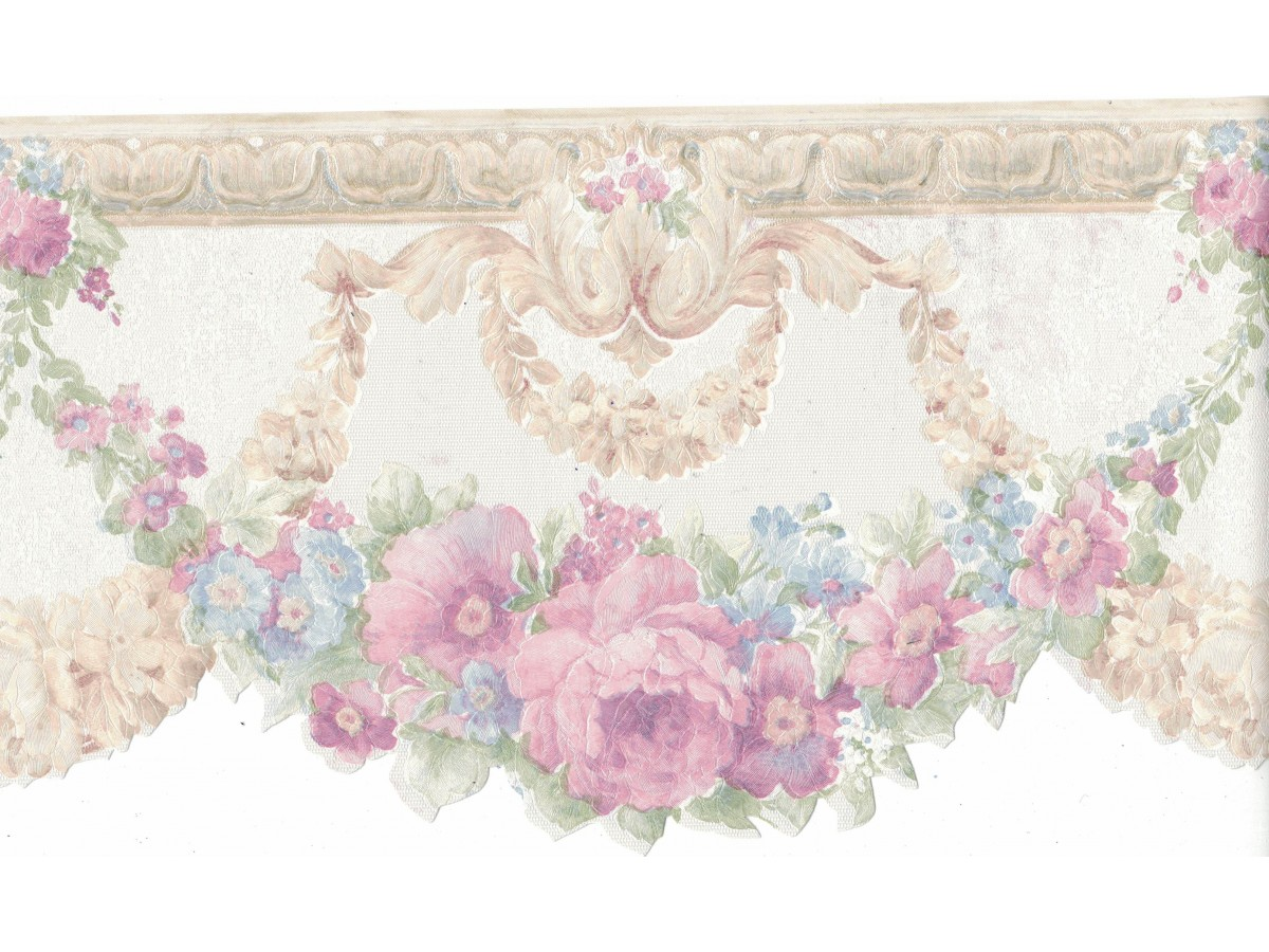 Flower Wallpaper Border Fdb02001