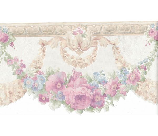 Floral Borders Flower Wallpaper Border FDB02001 Fine Art Decor Ltd.