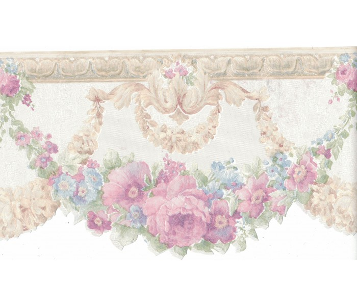 Floral Wallpaper Borders: Flower Wallpaper Border FDB02001