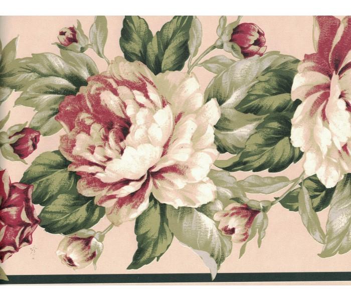 Floral Wallpaper Borders: Flower Wallpaper Border FDB03077
