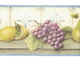 Prepasted Wallpaper Borders - Fruits Wall Paper Border FDB05816