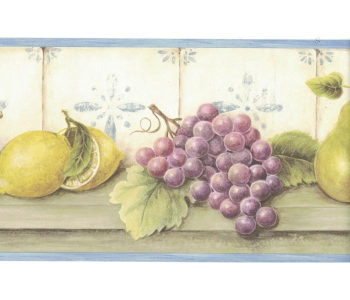 Garden Wallpaper Borders: Fruits Wallpaper Border FDB05816
