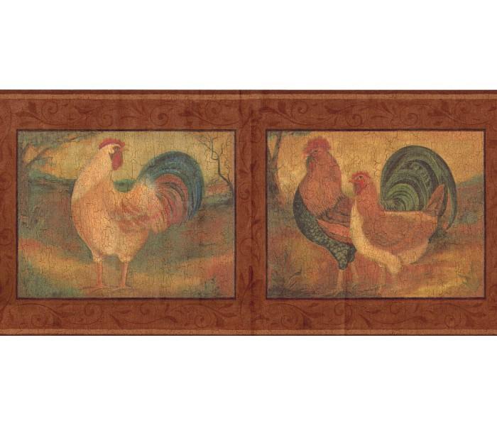 Roosters Wallpaper Borders: Roosters Wallpaper Border FDB06852