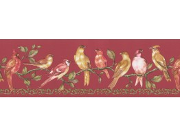 Prepasted Wallpaper Borders - Birds Wall Paper Border FDB06912