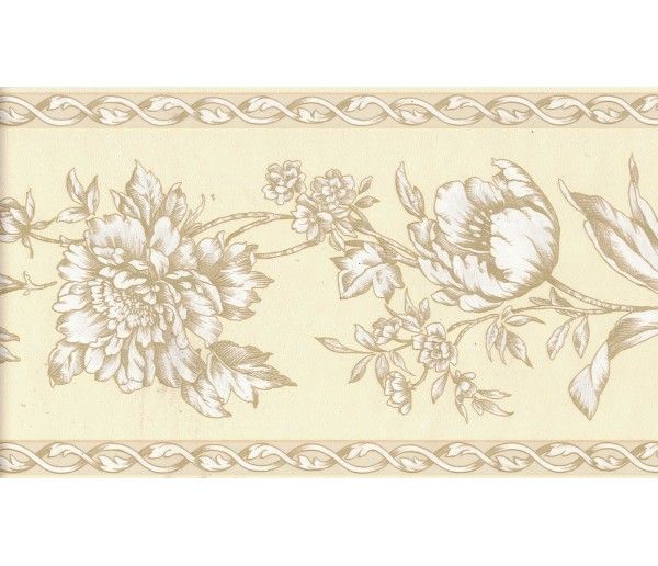 Prepasted Wallpaper Borders - Flower Wall Paper Border FDB06944
