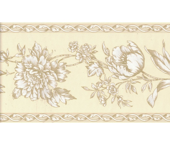 Floral Wallpaper Borders: Flower Wallpaper Border FDB06944