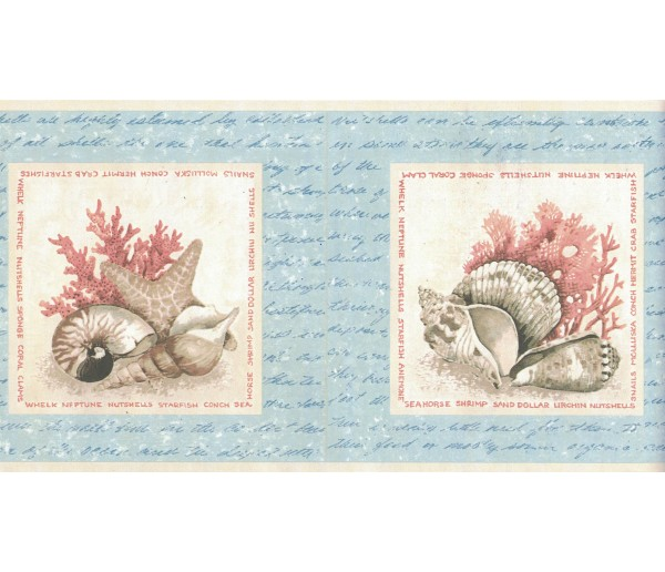New Arrivals Sea World Wallpaper Border FDB07135