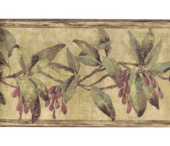 Floral Wallpaper Borders: Flower Wallpaper Border FDB08571
