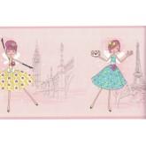 Kids Borders Girls Wallpaper Border FDB90525 Fine Art Decor Ltd.
