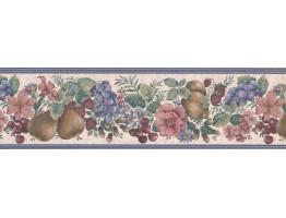 Fruits and Flower Wallpaper Border FE30962