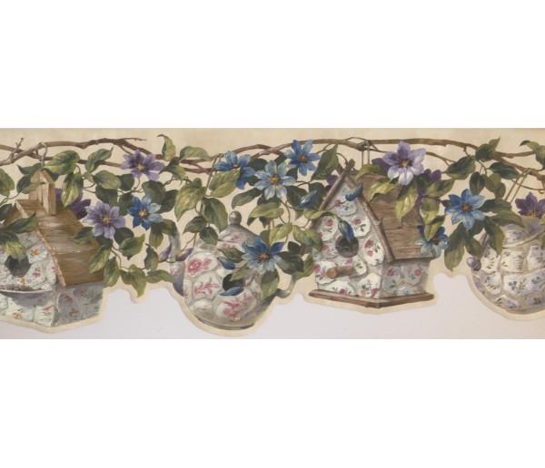 Floral Wallpaper Borders: Floral Wallpaper Border 10005 FFM