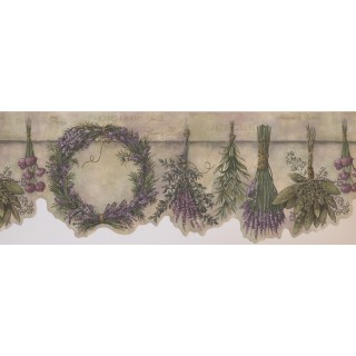 8 3/4 in x 15 ft Prepasted Wallpaper Borders - Garden Wall Paper Border 10081 FFM