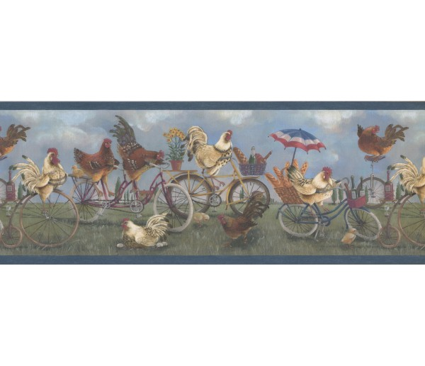 Roosters Roosters Wallpaper Border 1009 FFM York Wallcoverings