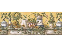 Prepasted Wallpaper Borders - Kitchen Wall Paper Border 10151 FFM